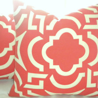 pillow cover,  Coastal casual Mango Orange Outdoor 18 ""