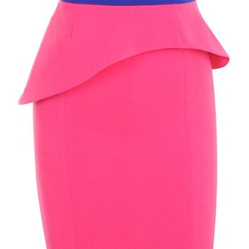 Clothing : Pencil Dresses : 'Vix' Pink Studded Strapless Knee Length Dress