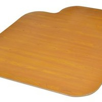 Medium Chair Mat with Lip - Cherry and Oak Wood Veneer Finish