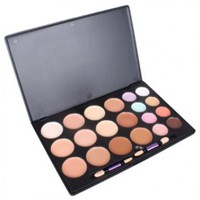 Professional 20 Color Makeup Palette (12 Foundation Make-up + 8 Concealer + 2 Brush):Amazon:Beauty