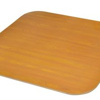 Extra Large Chair Mat without Lip - Cherry and Oak Wood Veneer Finish