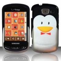 For Samsung Brightside U380 (Verizon) Rubberized Design Cover - Penguin Design