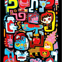 Streetmarket â?? Jon Burgerman - We Love Candy Art Print