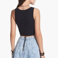Mimi Chica Acid Wash Chambray Skirt (Juniors) | Nordstrom