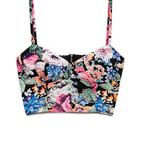 Electric Floral Crop Top | FOREVER 21 - 2000072956