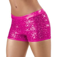 Sequin Metallic Booty Dance Shorts - Balera