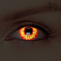 iD Lenses Wolf Eye Glow In The Dark Contacts