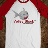 Volley Shark volleyball - logo on bsbl sleeves