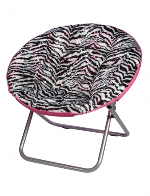 Zebra foil saucer chair girls from justice