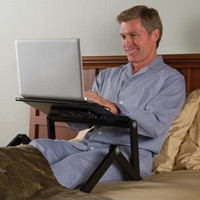 The Perfect Position Laptop Stand - Hammacher Schlemmer