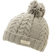 Neff Girls Kaycee Grey Pom Fold Beanie at Zumiez : PDP