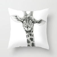 Young Giraffe  G2012-053 Throw Pillow by S-Schukina