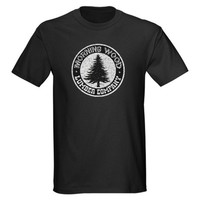 Morning Wood Black T-Shirt on CafePress.com