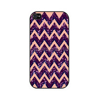 PURPLE CHEVRON Pattern Rubber iPhone Case iPhone 4 by caseOrama