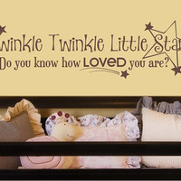 Twinkle Twinkle Little Star Wall Decal  by singlestonestudio
