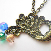 Buy 4 Get 1 FREE! peacock pendant necklaces