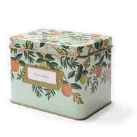 Rifle Paper Co. - Citrus Floral Tin Recipe Box