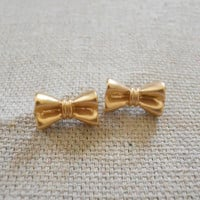 Bow Tie Earrings [3677] - $12.00 : Vintage Inspired Clothing & Affordable Dresses, deloom | Modern. Vintage. Crafted.