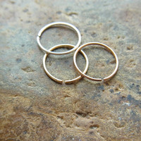 set of 3pcs Extreme thin and Extra small Cartilage /seamless /catchless /tragus /helix /nose ring