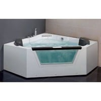 Amazon.com: EAGO AM156 5' CORNER LUXURY CLEAR WHIRLPOOL HOT TUB + HEATER & STEREO: Kitchen & Dining