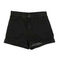 Basic Shorts with Rolled Up Hems by Stylenanda