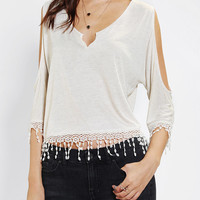 Urban Outfitters - Staring At Stars Cold Shoulder Crochet Top