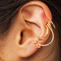 Make-A-Wish-Ear-Cuff GOLD SILVER - GoJane.com