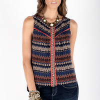Tribal Sleeveless Top - Women's Clothing and Fashion Accessories | Bohme Boutique