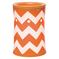 Chevron Orange Scentsy Warmer PREMIUM