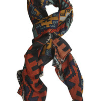 Aztec Print Scarf | Shop Fashion Frontier at Arden B