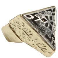Laser Cut Triangular Ring | Shop Fashion Frontier at Arden B