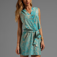 Karina Grimaldi Azalea Print Mini Dress in Turquoise Snake from REVOLVEclothing.com