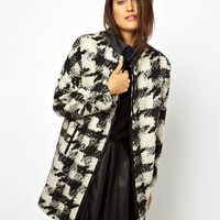 ASOS Check Wool Coat