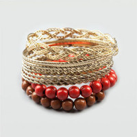FULL TILT 9 Piece Bangle and Beads Set    194448621 | bracelets | Tillys.com