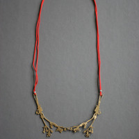 Necklace of Golden Flowers and Silk