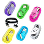 Bluecell Pack of 7 PCS Aqua Blue/Black/Green/Hot Pink/Purple/White/Ye... USB Sync Data Cable for Iphone 4 4S 3g/s Ipod   Free Bluecell Cable Tie