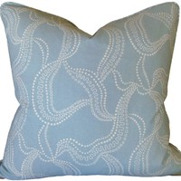 Shoreline - Strands Aqua Pillow