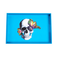D.L. & Co.: Bright Blooming Skull Tray Blue, at 34% off!