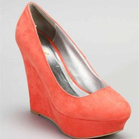 Coral Suede Wedges :: windsorstore.com