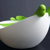 Bird Salad Bowl and Servers Set