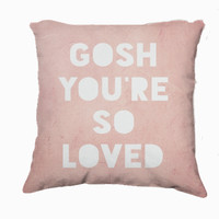Retro Inspired Home Decor, Gosh, Loved Typography Throw Pillow, Expressions for The Home - $35.00 - Handmade Home Decor, Crafts and Unique Gifts by The Gosh Shop
