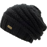 Spacecraft Girls Anise Black Contrast Knit Beanie at Zumiez : PDP