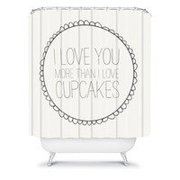 Allyson Johnson I Love You More Than Cupcakes | DENY Designs Home Accessories