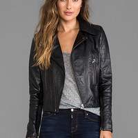 KENNA-T Bubble Lamb Zip Moto in Black from REVOLVEclothing.com