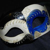 Suave Mask in Black, Blue and Ivory