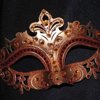 Gold and Bronze Capri Masquerade Mask - Made to Order