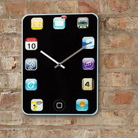 iPhone Wall Clock  @ Sharper Image