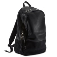 BLACK LEATHER + SUEDE : DAYPACK - DAYPACK