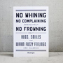 Hammerpress | No Whining Postcard