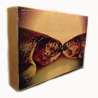 "Smooching Fish Wood Block (5"" x 8"")"